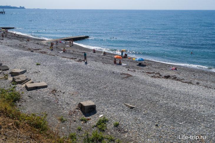 Пляж Дагомыс в Сочи - красивое место для отдыха