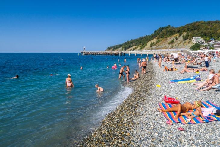 Пляж Дагомыс в Сочи