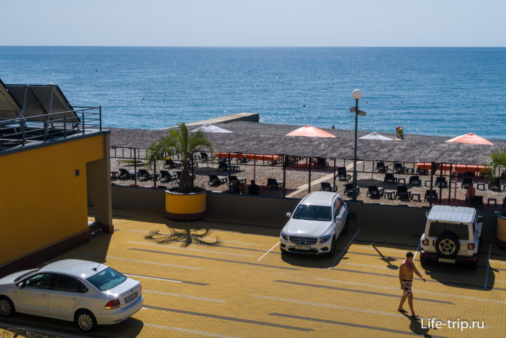 Пляж санатория Дагомыс - обзор мимоходом