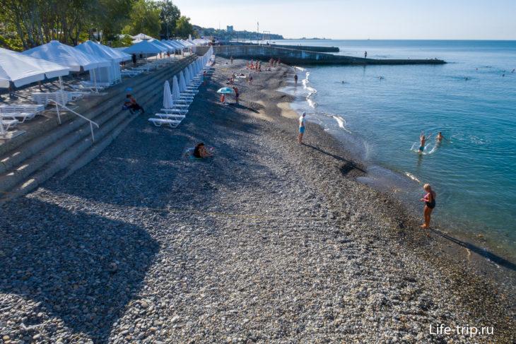 Пляж Ласточка - самый большой пляж Мамайки