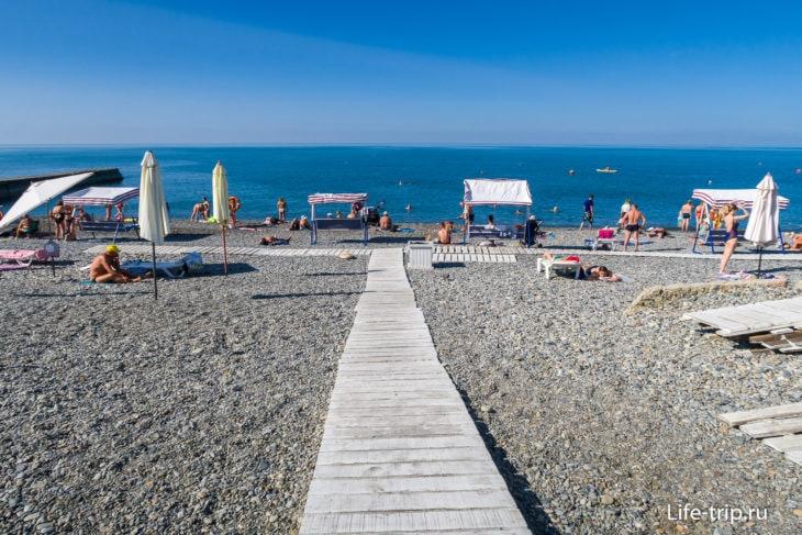 Пляж Русалочка - семейный отдых в Мамайке