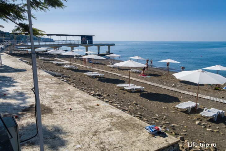 Пляж Ставрополье в Сочи