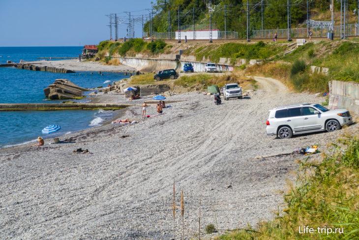 Пляж Восход (73-й км Сочи)