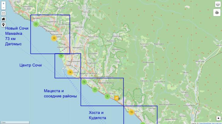 100+ пляжей Сочи в одном месте - описание с фото и мой рейтинг