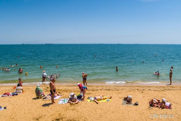 Лучший песчаный пляж в Керчи - Первый Городской пляж
